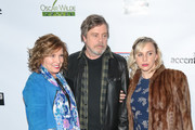 Mark Hamill, Chelsea Hamill and Marilou York are seen arriving to the 13th Annual Oscar Wilde Awards held at Bad Robot in Los Angeles, California.