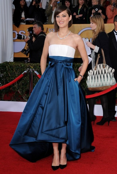 19th Annual Screen Actors Guild Awards..Shrine Auditorium, Los Angeles, CA..January 27, 2013..Job: 130127A1..(Photo by Axelle Woussen)..Pictured: Marion Cotillard.