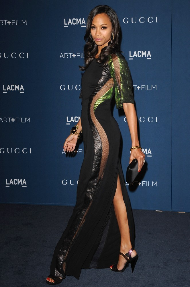 2013 LACMA Art + Film Gala..LACMA, Los Angeles, CA..November 2, 2013..Job: 131102A1..(Photo by Axelle Woussen/Bauer-Griffin)..Pictured: Zoe Saldana.