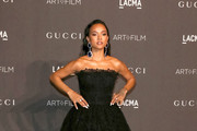 Karrueche Tran is seen attending 2018 LACMA Art Film Gala honoring Catherine Opie and Guillermo del Toro presented by Gucci at LACMA in Los Angeles, California.