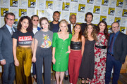 Trevor Einhorn, Arjun Gupta, Rick Worthy, Hale Appleman, Jade Tailor, Stella Maeve, Olivia Taylor Dudley, Summer Bishil and Brittany Curran are seen attending 'The Magicians' Photo Call during Comic-Con International at Hilton Bayfront in San Diego, California.