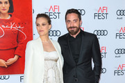 Natalie Portman and Pablo Larrain are seen arriving at AFI FEST 2016 - Centerpiece Gala - Screening of Fox Searchlight Pictures 'Jackie' at TCL Chinese Theatre.