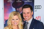 Brian Gallagher and Megan Hilty are seen attending the AFI Fest Opening Night - Premiere of 'Rules Don't Apply' at TCL Chinese Theatre.