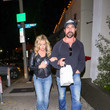 Aaron Phypers Denise Richards And Aaron Phypers Outside Craig's Restaurant In West Hollywood