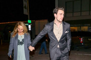 Aaron Taylor-Johnson And Sam Taylor-Johnson Outside Craig's Restaurant In West Hollywood
