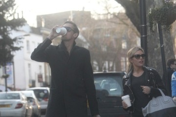 Abbey Clancy Peter Crouch and Abbey Clancy Take a Walk