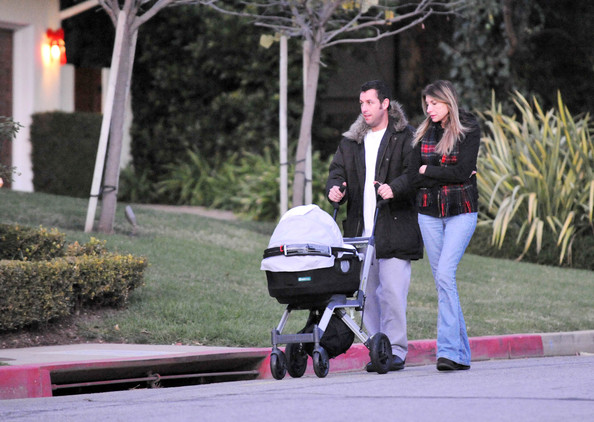 Adam Sandler Walking With Family