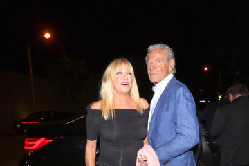 Alan Hamel Suzanne Somers Outside Craig's Restaurant in West Hollywood