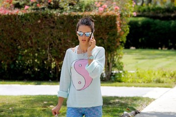 Alessandra Ambrosio Alessandra Ambrosio Walks With Her Kids