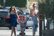 Alessandra Ambrosio Takes Sister Aline and Daughter Anja Louise Shopping