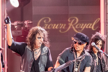 Alice Cooper Johnny Depp and Alice Cooper Jam at 'Jimmy Kimmel Live'