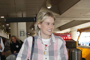 Alice Eve Alice Eve At LAX International Airport