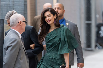 Amal Clooney George Clooney At 'Jimmy Kimmel Live'