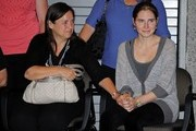 Amanda Knox arrives in Seattle after being found guilty of murder by an Italian court.