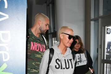 Amber Rose Amber Rose Spotted at LAX
