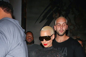 Amber Rose Amber Rose Leaving Project Club in Los Angeles