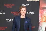 Derek Theler is seen attending the premiere of STARZ's 'American Gods' season 2 at Ace Hotel in Los Angeles, California.