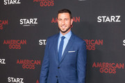 Pablo Schreiber is seen attending the premiere of STARZ's 'American Gods' season 2 at Ace Hotel in Los Angeles, California.