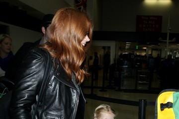 Amy Adams Amy Adams and Family Arrives at LAX