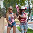 Ana Braga Ana Braga and Phoebe Price Go to a 4th of July Party