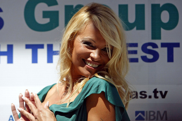 Pamela+Anderson in Pamela Anderson holds a press conference at the Hotel Avala