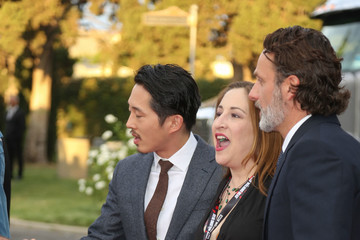 Andrew Lincoln Steven Yeun 'Talking Dead Live' For the Premiere of 'The Walking Dead'