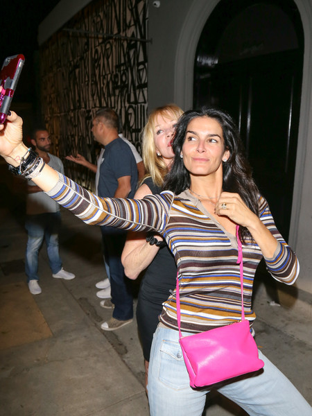 Melanie Griffith and Angie Harmon Are Seen at Craig's Restaurant []