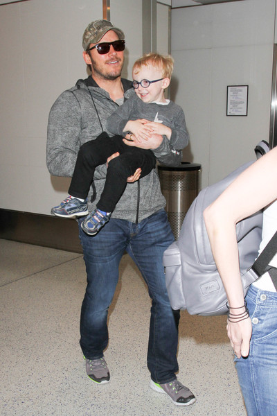Chris Pratt, Anna Faris, and Son Jack Are Seen at LAX