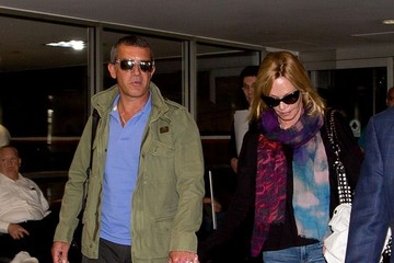 Antonio Banderas Antonio Banderas and Melanie Griffith at LAX