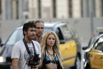 Antonio de la Rua Shakira and Antonio de la Rua on the Set of a Music Video