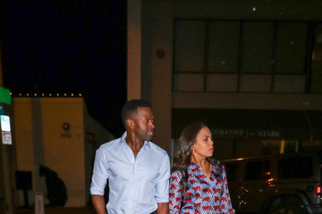 Aonika Laurent Sean Patrick Thomas Outside Craig's Restaurant In West Hollywood