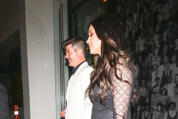 April Love Geary Robin Thicke And April Love Geary Outside Catch Restaurant In West Hollywood