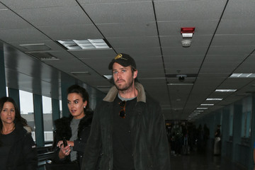 Armie Hammer Celebrity Sightings at Salt Lake City Airport for the Sundance Film Festival