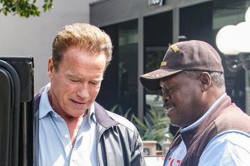 Arnold Schwarzenegger Arnold Schwarzenegger and Son Patrick Spotted in Los Angeles