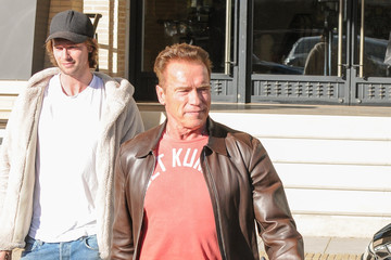 Arnold Schwarzenegger Arnold Schwarzenegger Shops Barneys With Son Patrick