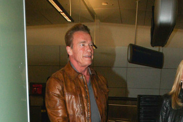 Arnold Schwarzenegger Arnold Schwarzenegger Is Seen at LAX