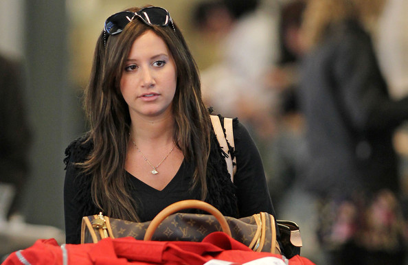 "Ashley Tisdale Ashley Tisdale and Aly Michalka arrive at Vancouver International Airport (YVR) as they get ready to film their TV movie, ""Hellcats."" ."