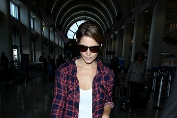 Ashley Greene Ashley Greene Arrives at LAX