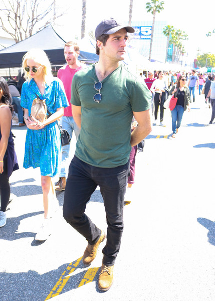 Beau Mirchoff Shops At The Farmer's Market In Studio City
