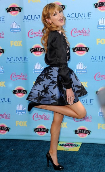 Bella Thorne Blue carpet arrivals at the Teen Choice Awards at the Gibson Amphitheater in Universal City on August 11, 2013.