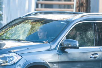 Ben Affleck Jennifer Garner and Ben Affleck Go for a Drive