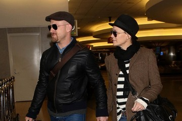 Ben Foster Robin Wright and Ben Foster at LAX