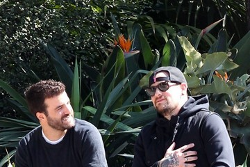 Benji Madden Benji Madden Hangs with a Friend