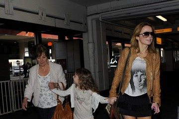 Bluebell Halliwell Geri Halliwell and her Daughter Arrive in London