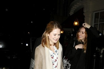Bonnie Wright Stars Leave the Pre-BAFTA Party