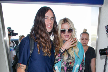 Brad Ashenfelter Kesha and Boyfriend Brad Ashenfelter at LAX