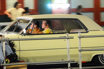 Brad Pitt Leonardo DiCaprio On The Set Of 'Once Upon A Time In Hollywood'