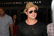 Brad Pitt Is Seen at LAX