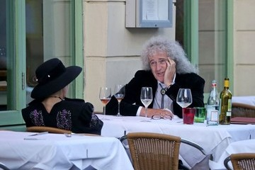Brian May Brian May Enjoys a Patio Lunch