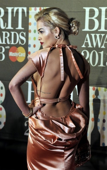 20th February, 2013:  Rita Ora attends the Brit Awards 2013 at the 02 Arena on February 20, 2013 in London, England.
